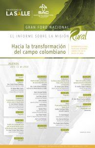 Gran Foro Misión Rural Programa