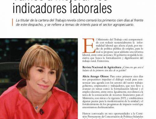 Dice la ministra Alicia Arango:
