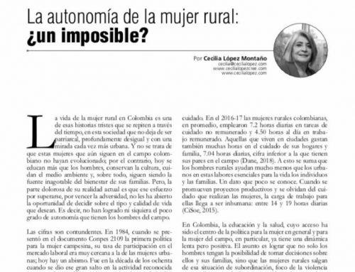 La autonomía de la mujer rural: ¿un imposible?