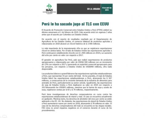 Perú le ha sacado el jugo al TLC con Estados Unidos
