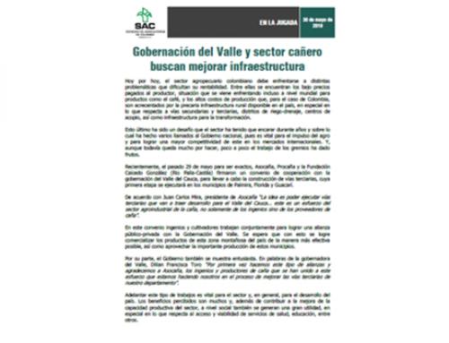 Gobernación del Valle y sector cañero buscan mejorar infraestructura