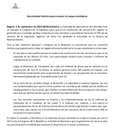 Oportunidad histórica para conectar al campo colombiano